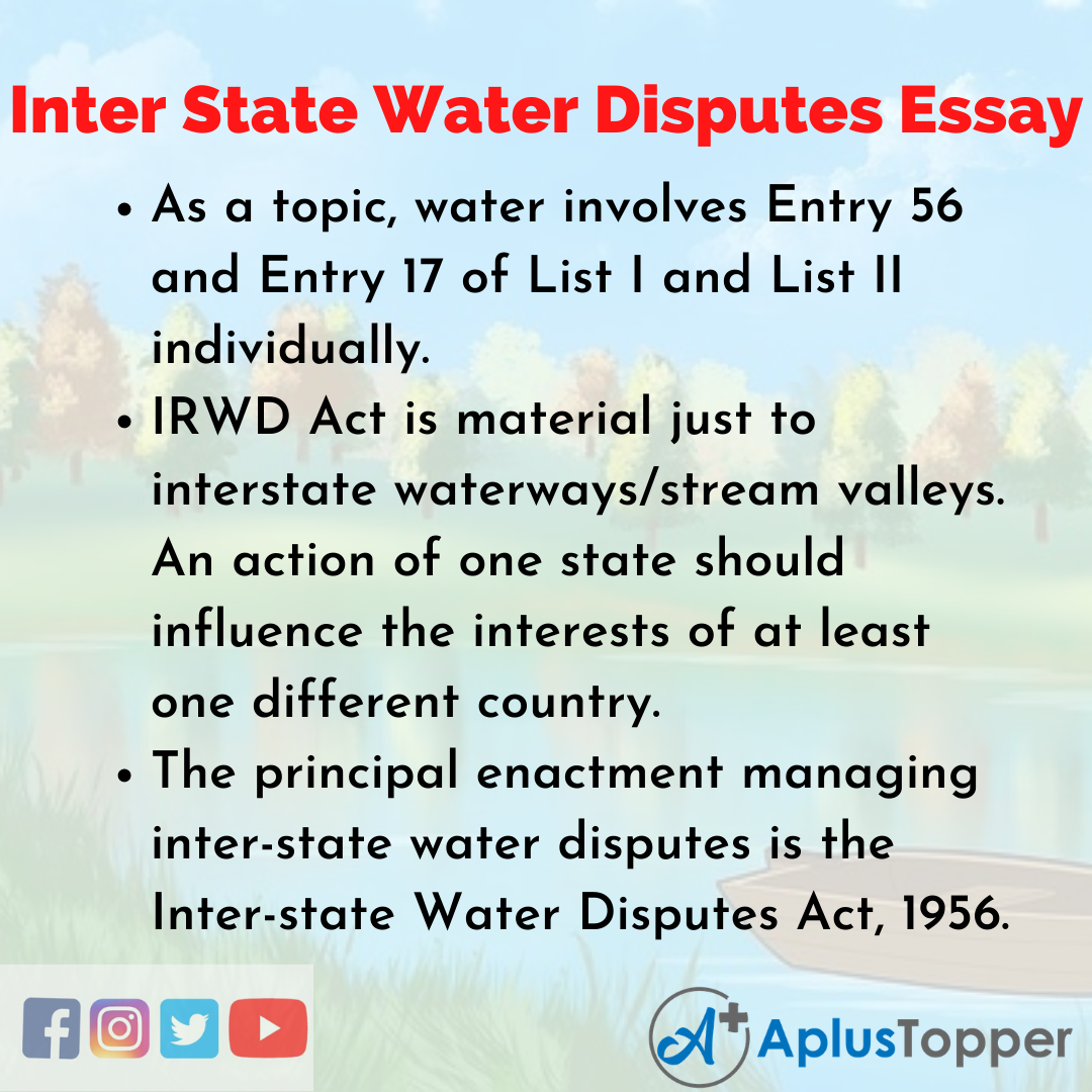 Essay on Inter State Water Disputes