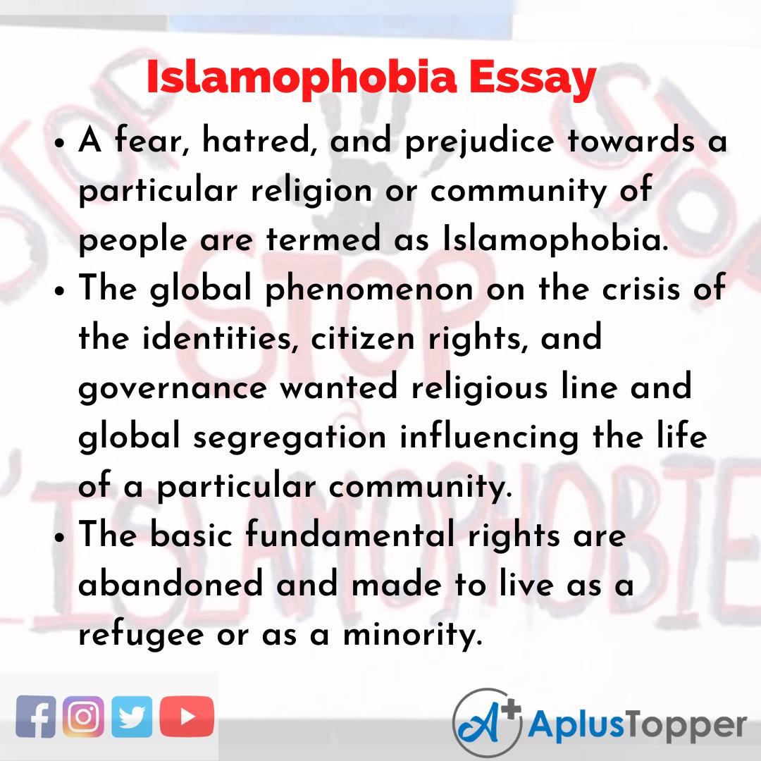 Essay on Islamophobia