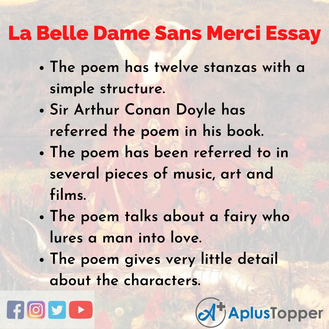 Essay on La Belle Dame Sans Merci