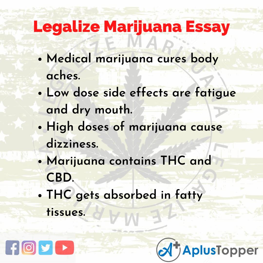 Essay on Legalize Marijuana