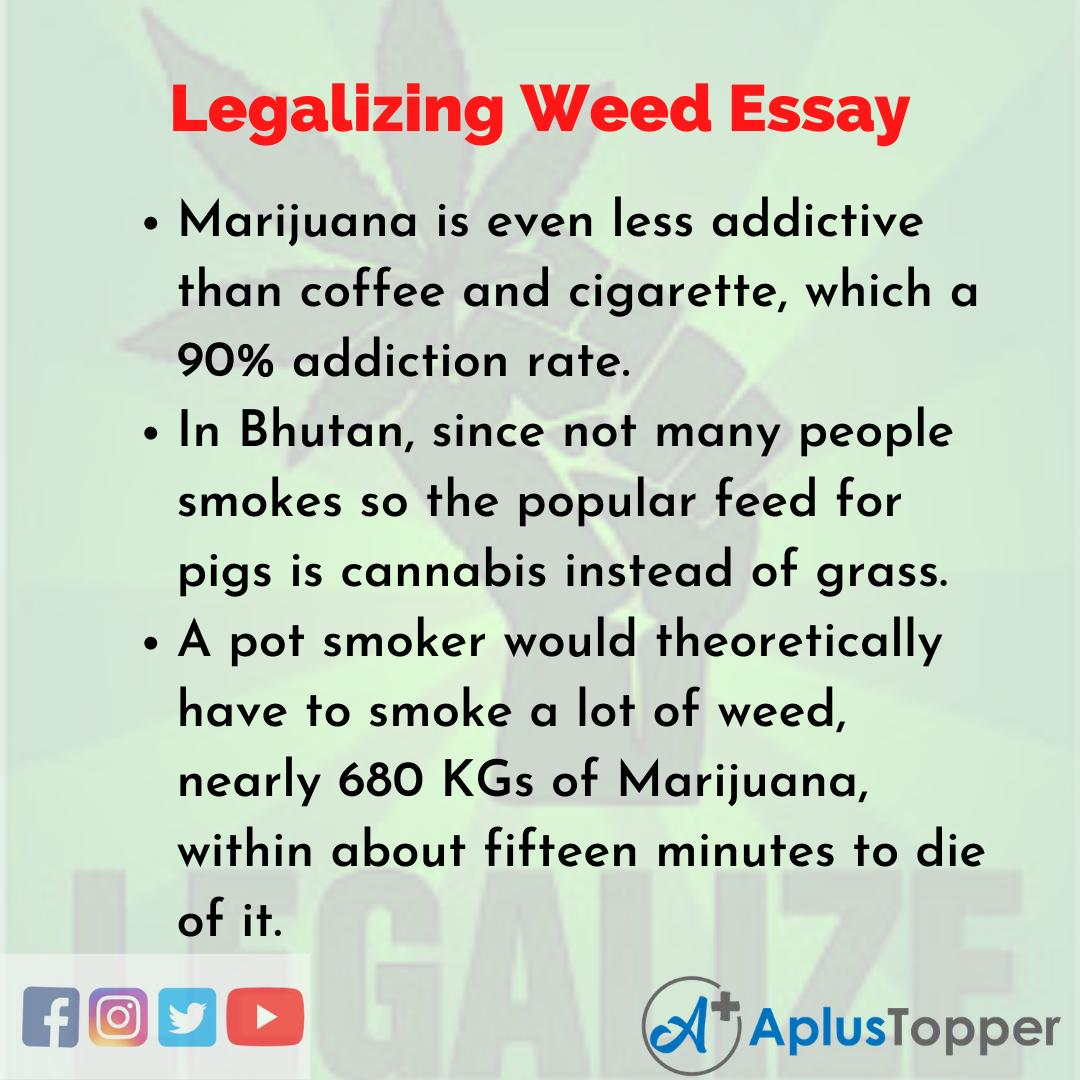 Essay on Legalizing Weed