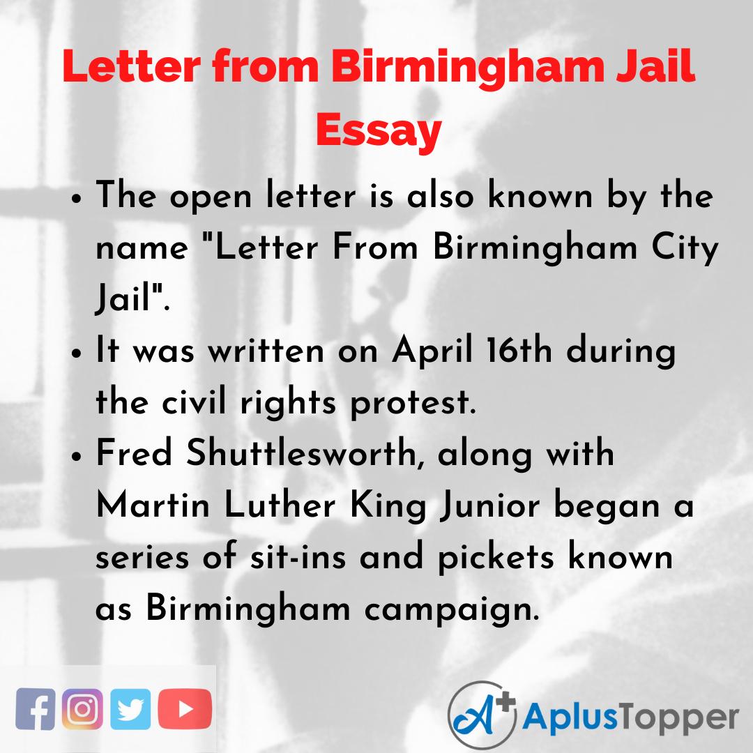 Essay on Letter from Birmingham Jail