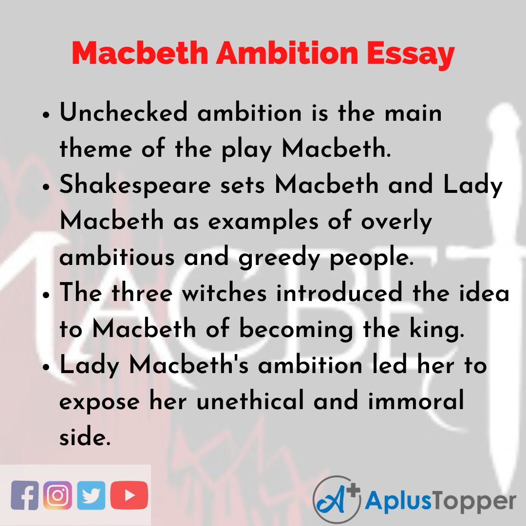Essay on Macbeth Ambition