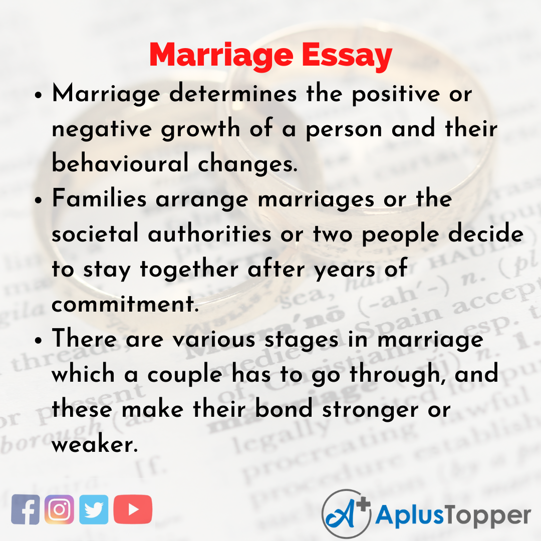 Essay on Marriage