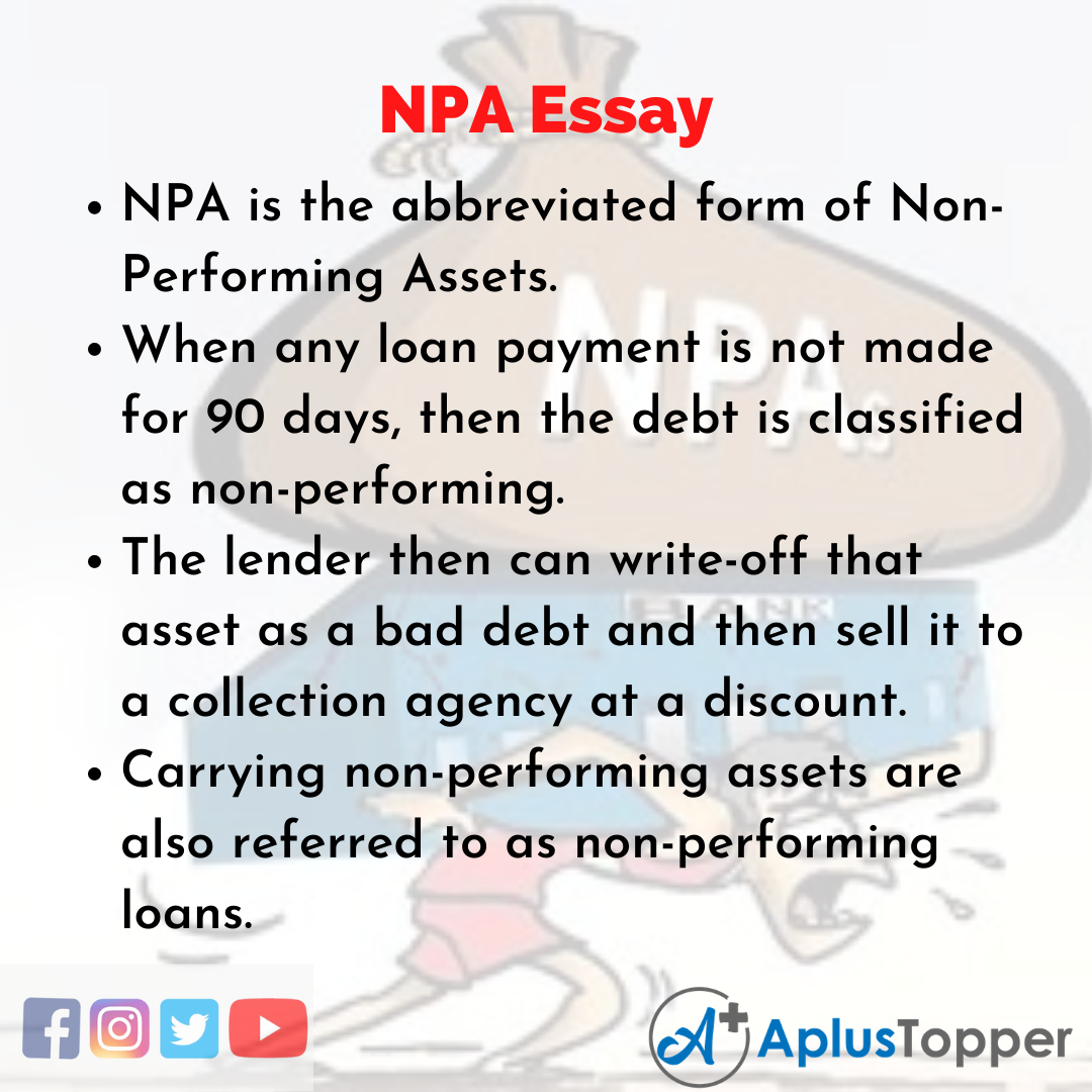 Essay on NPA