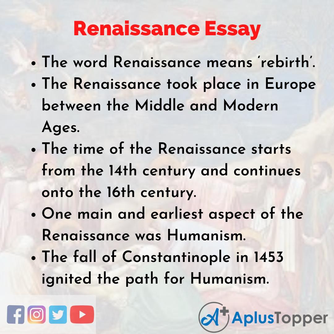 Essay on Renaissance