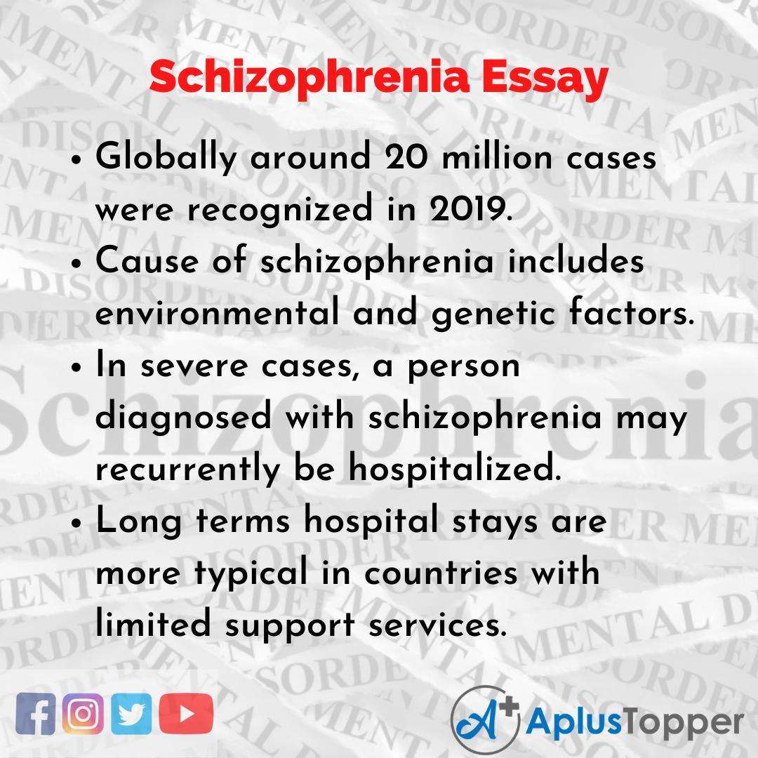 Essay on Schizophrenia
