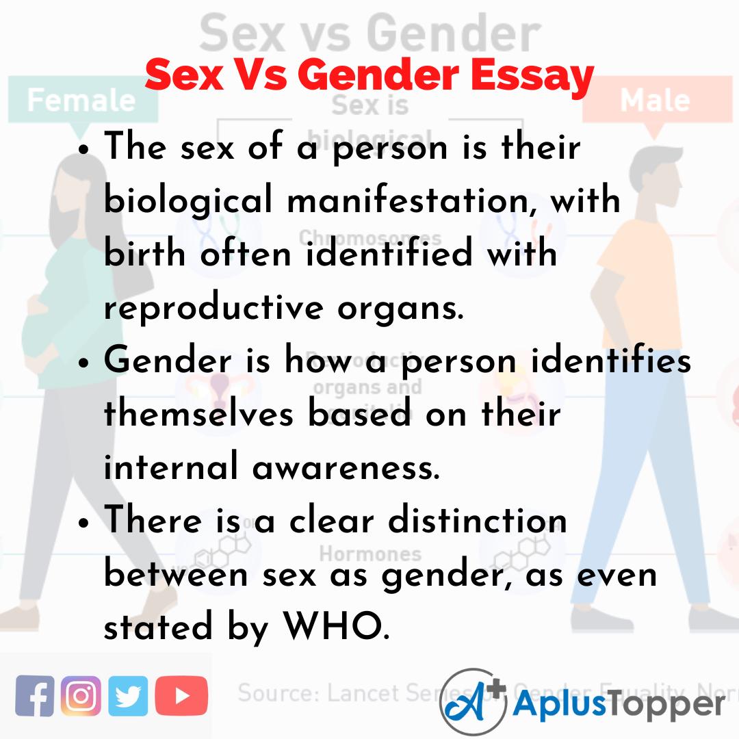 Essay on Sex Vs Gender