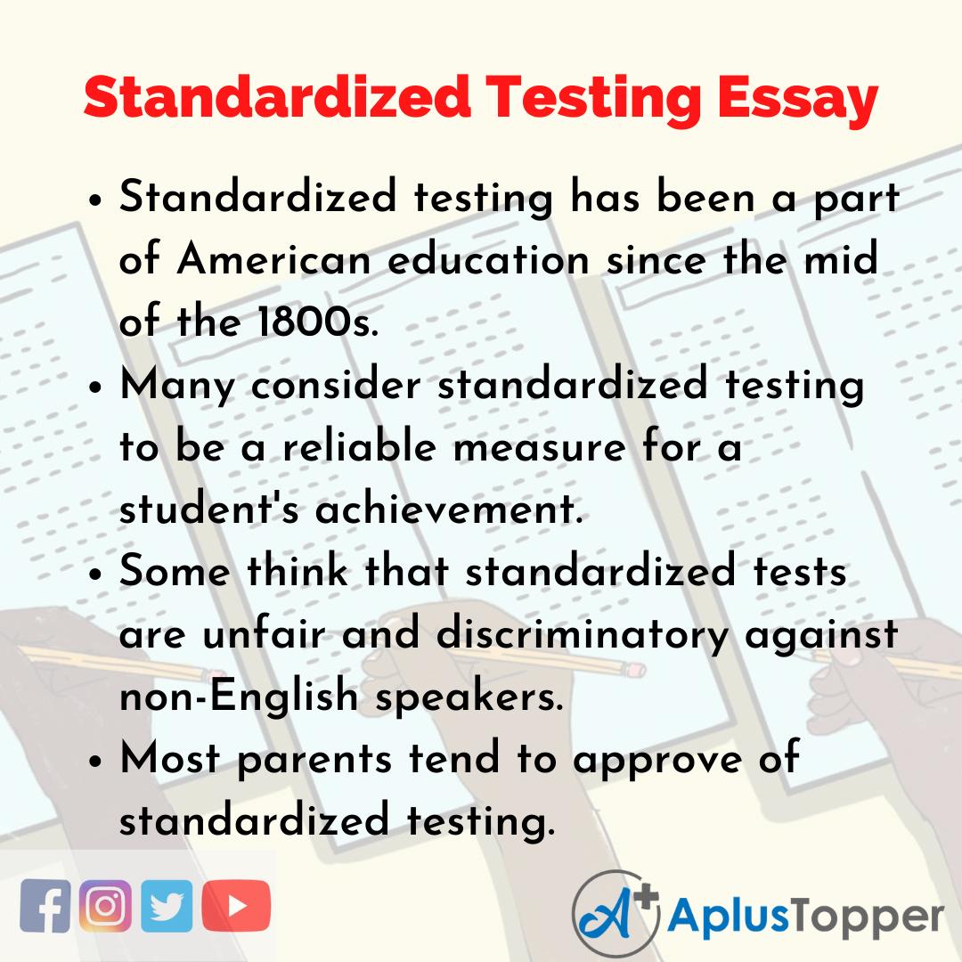 Essay on Standardized Testing