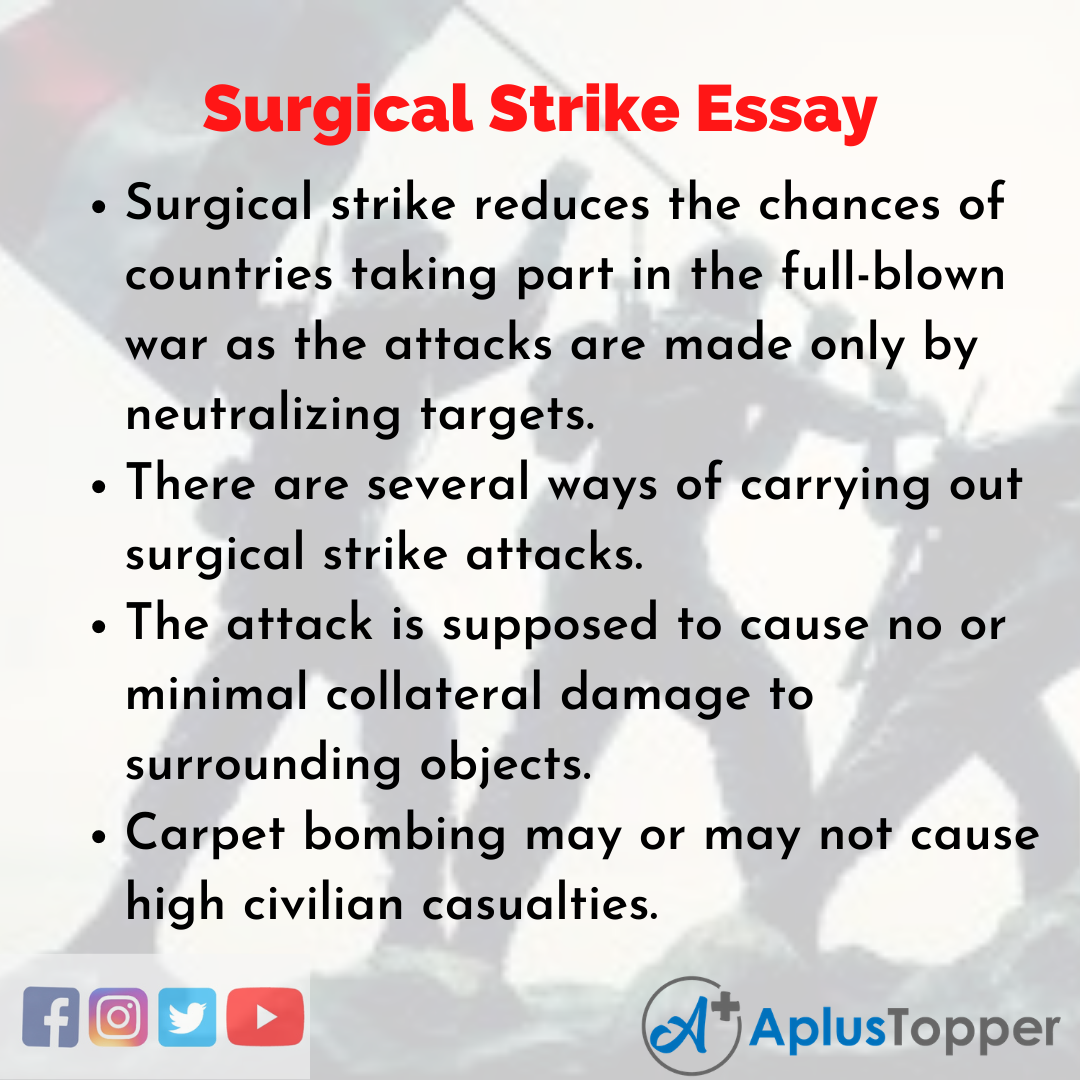 Essay on Surgical Strike