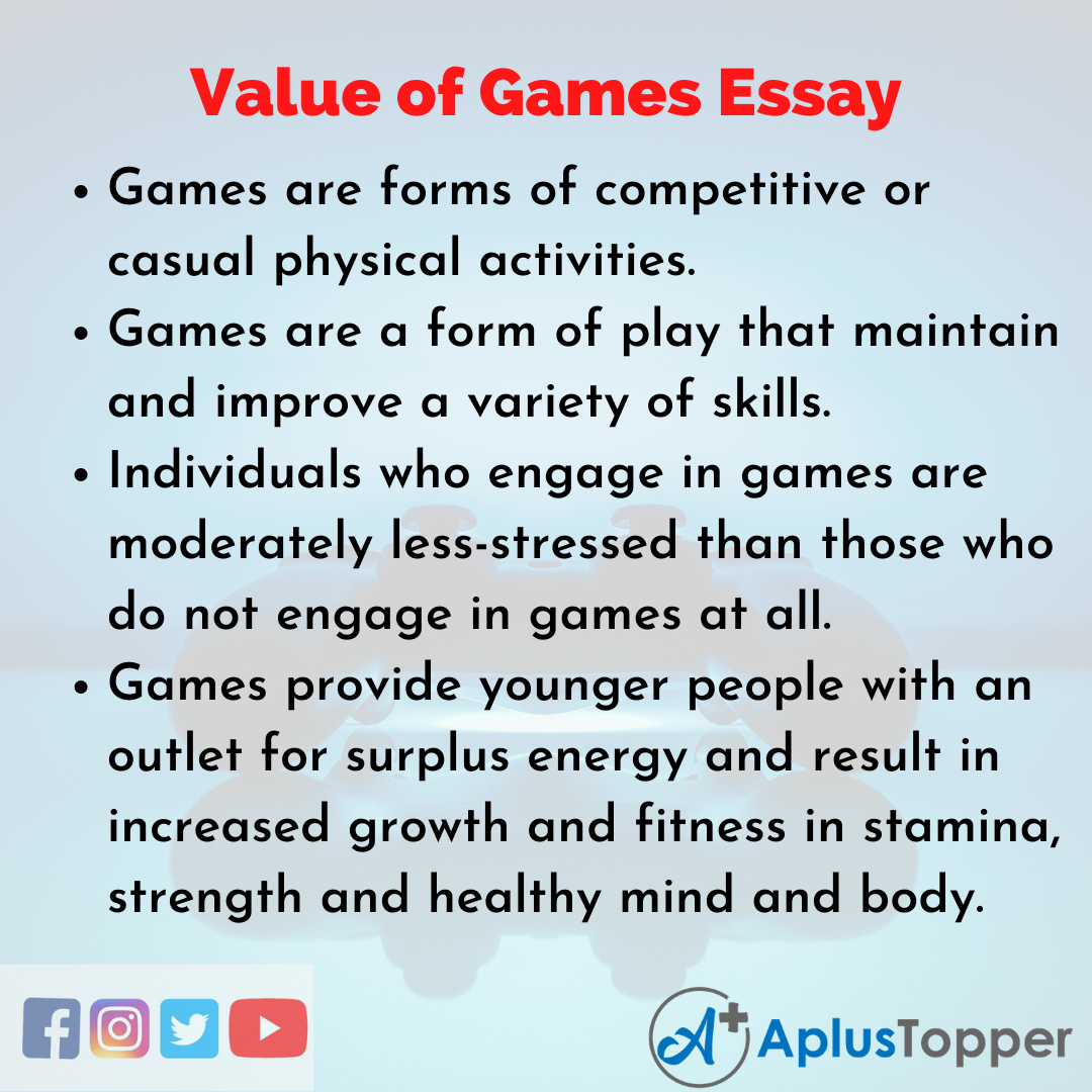 Essay on Value of Games