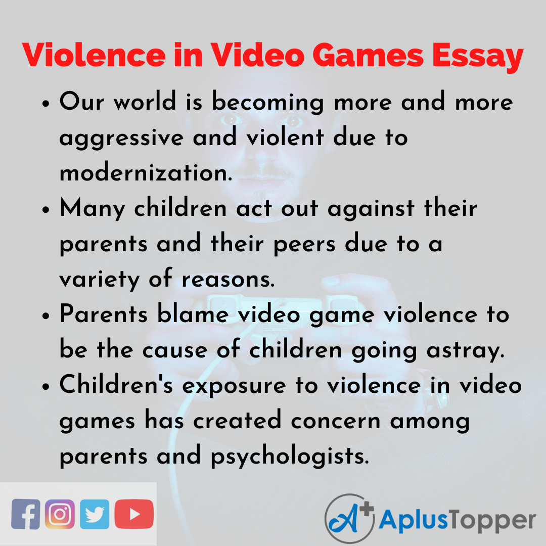 Essay on Violence in Video Games