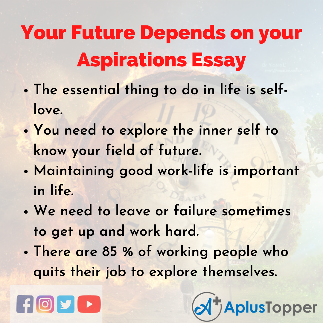 Essay on Your Future Depends on your Aspirations