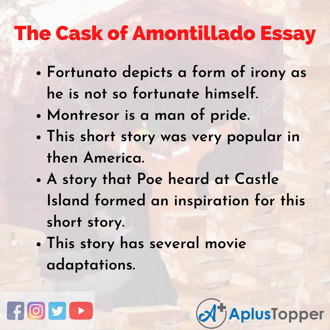 Essay on the Cask of Amontillado