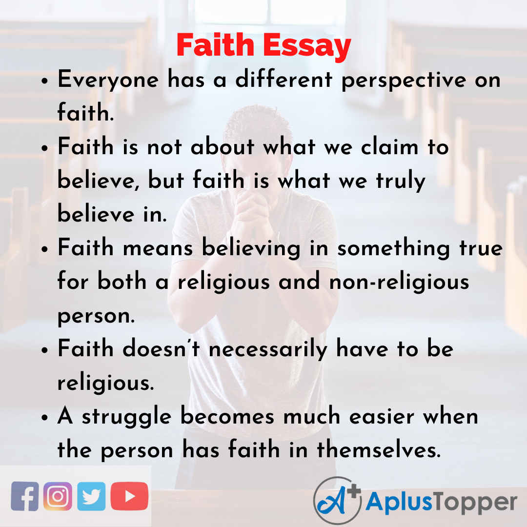 Essays on faith and belief resume trades