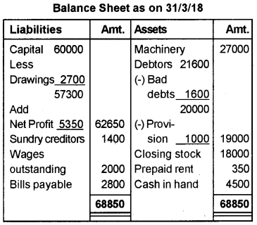 Plus One Accountancy AFS Previous Year Question Paper March 2019, 14