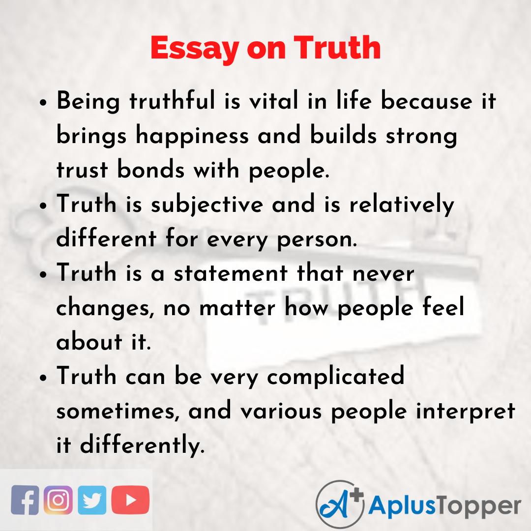 Truth Essay