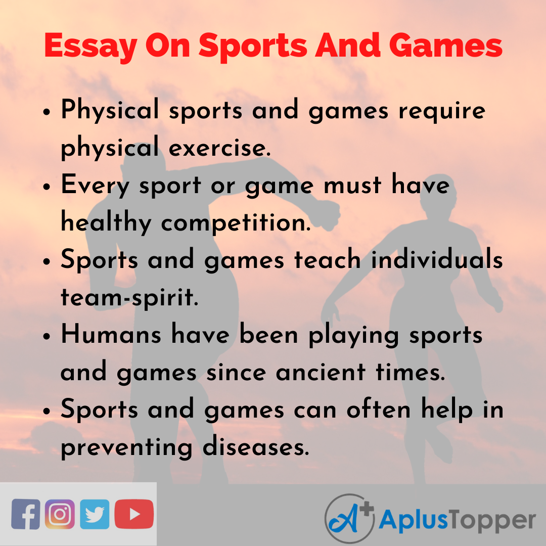 10 Lines On Sports And Games Essay
