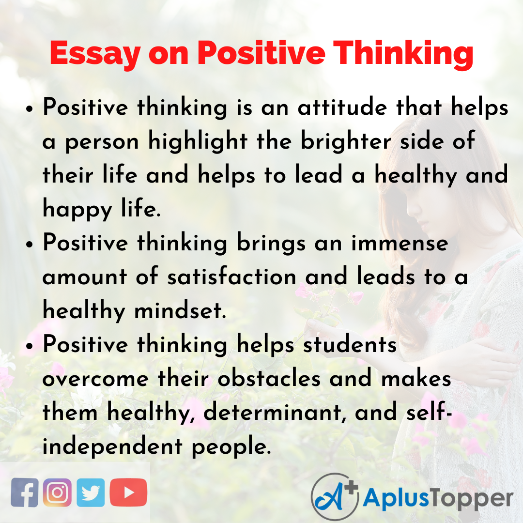 10 Lines Positive Thinking Essay
