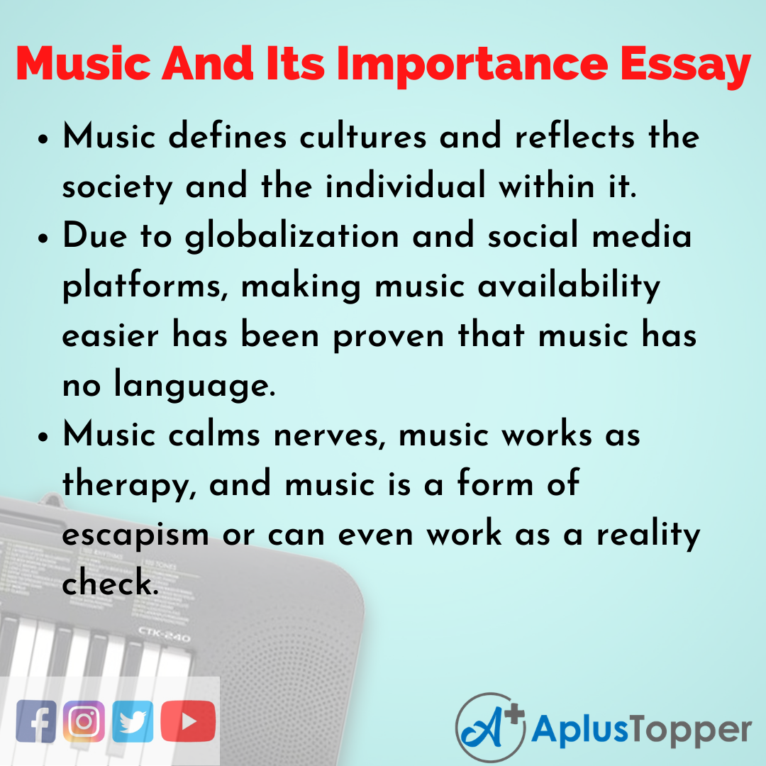10 Lines on Music And Its Importance
