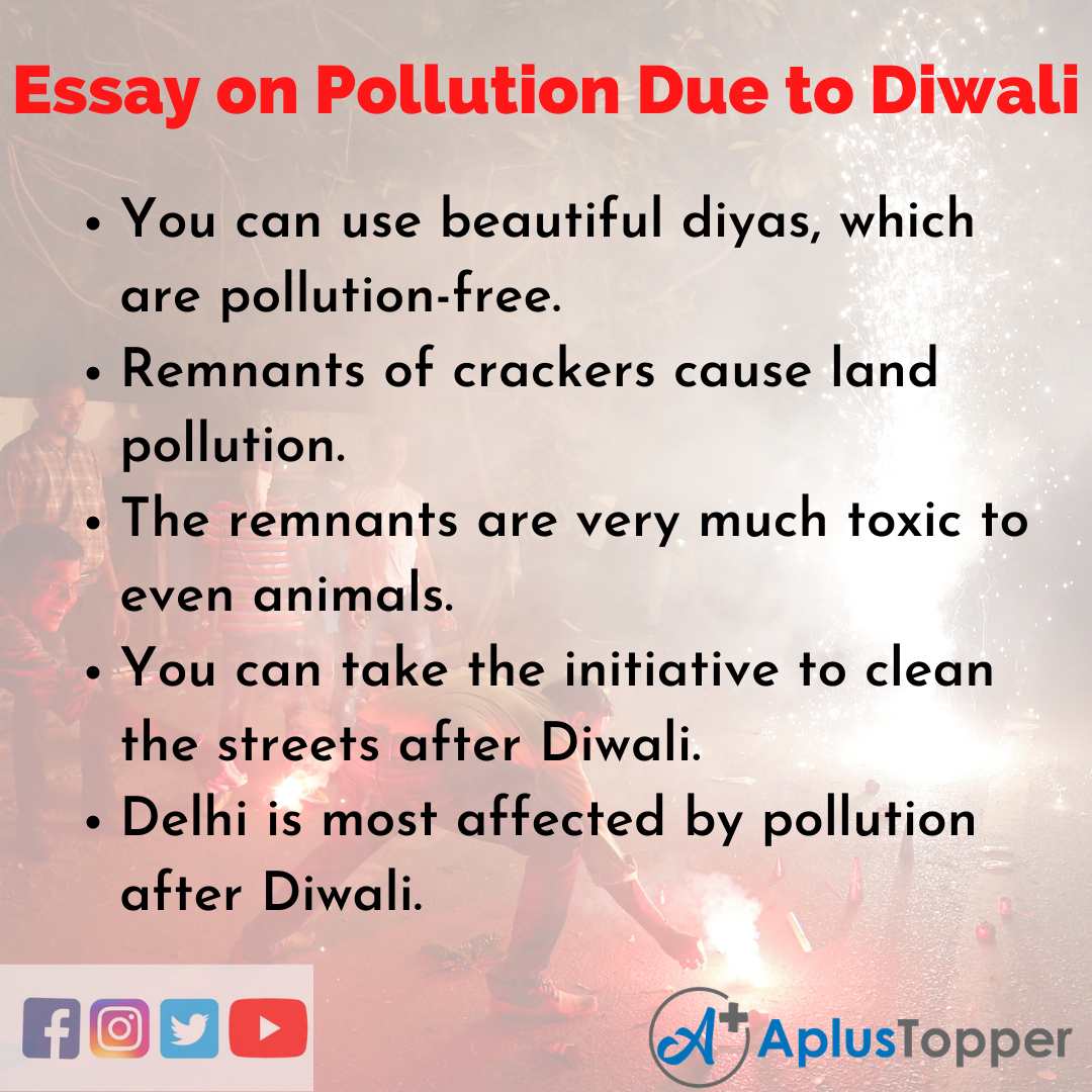 10 Lines on Pollution Due to Diwali