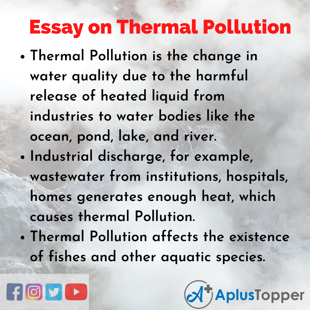 10 Lines on Thermal Pollution Essay
