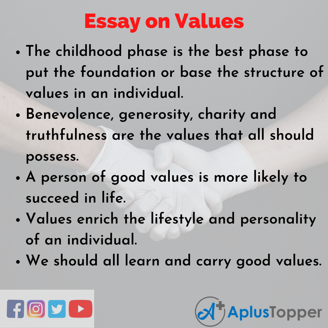 10 Lines on Values Essay