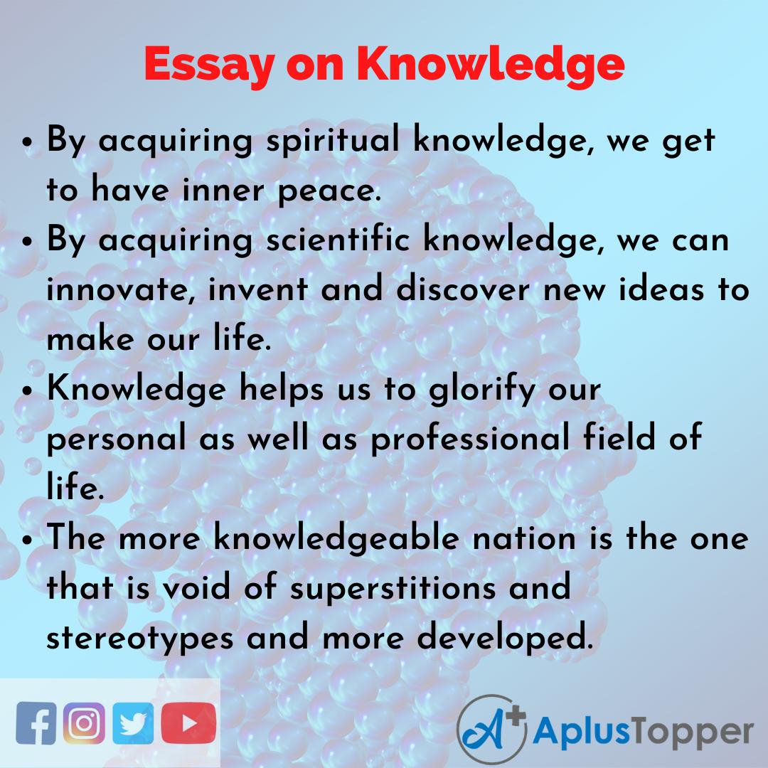 10 lines on Knowledge Essay
