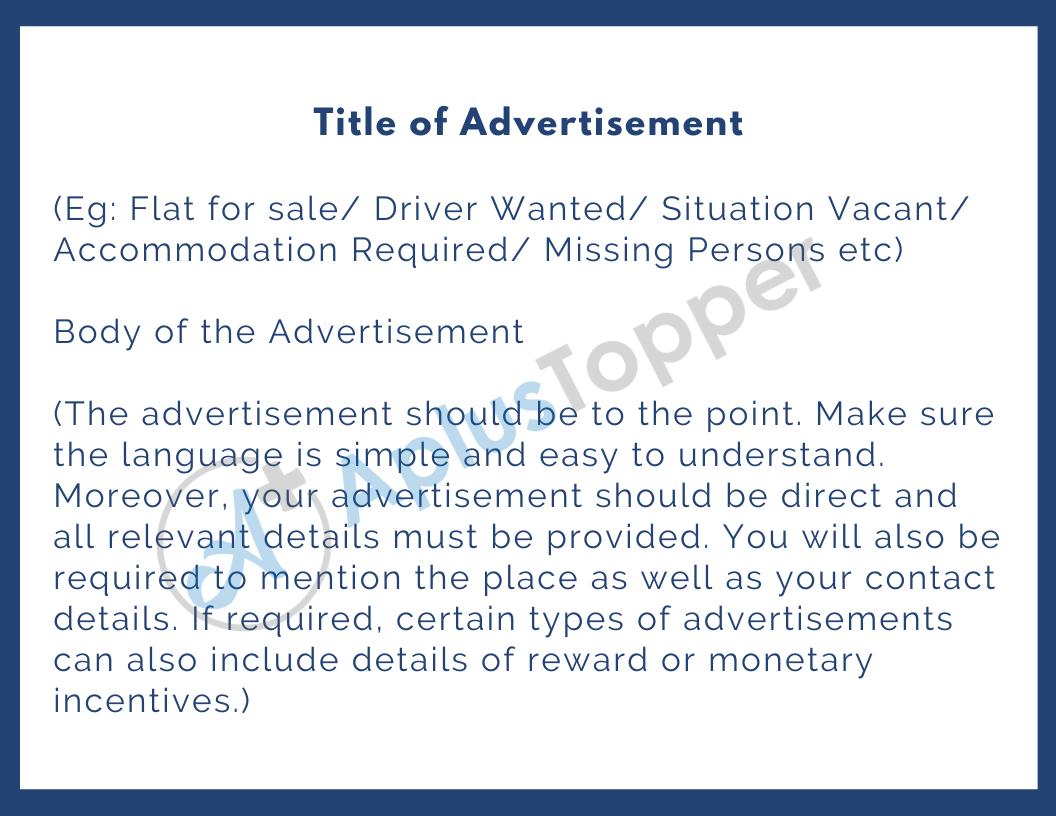 Advertisement Format
