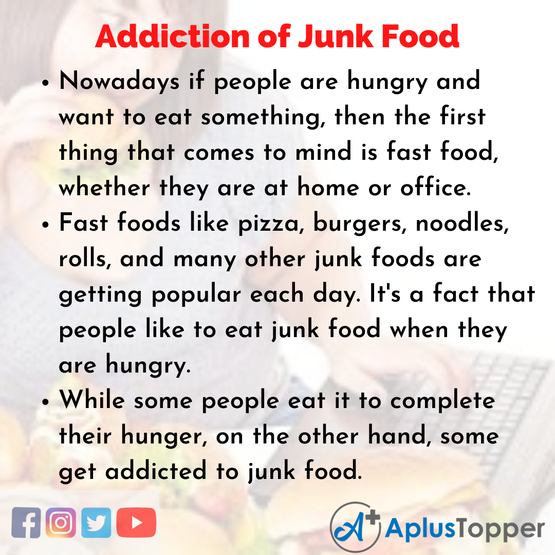 Essay about Addiction of Junk Food