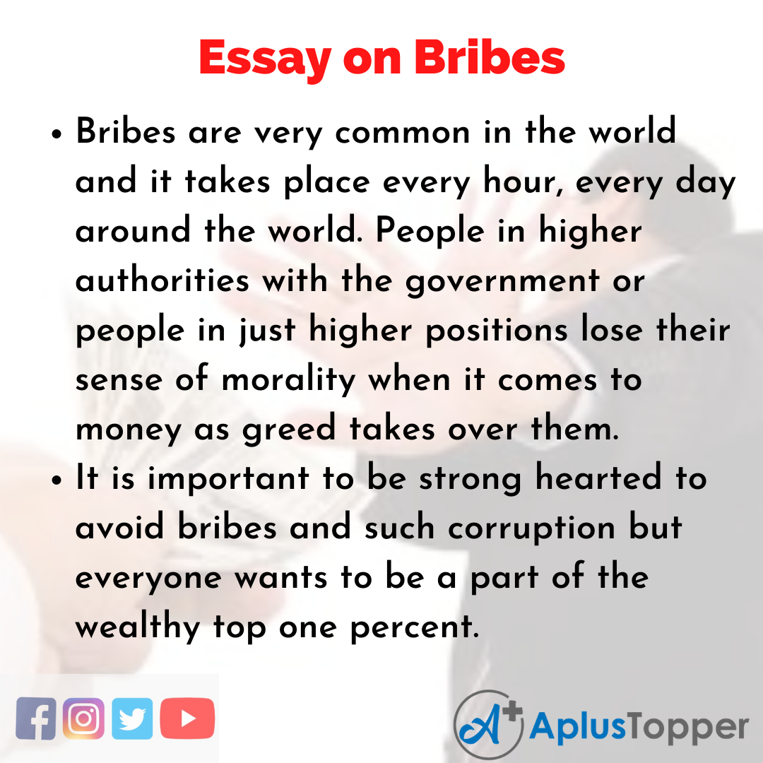 Essay about Bribes
