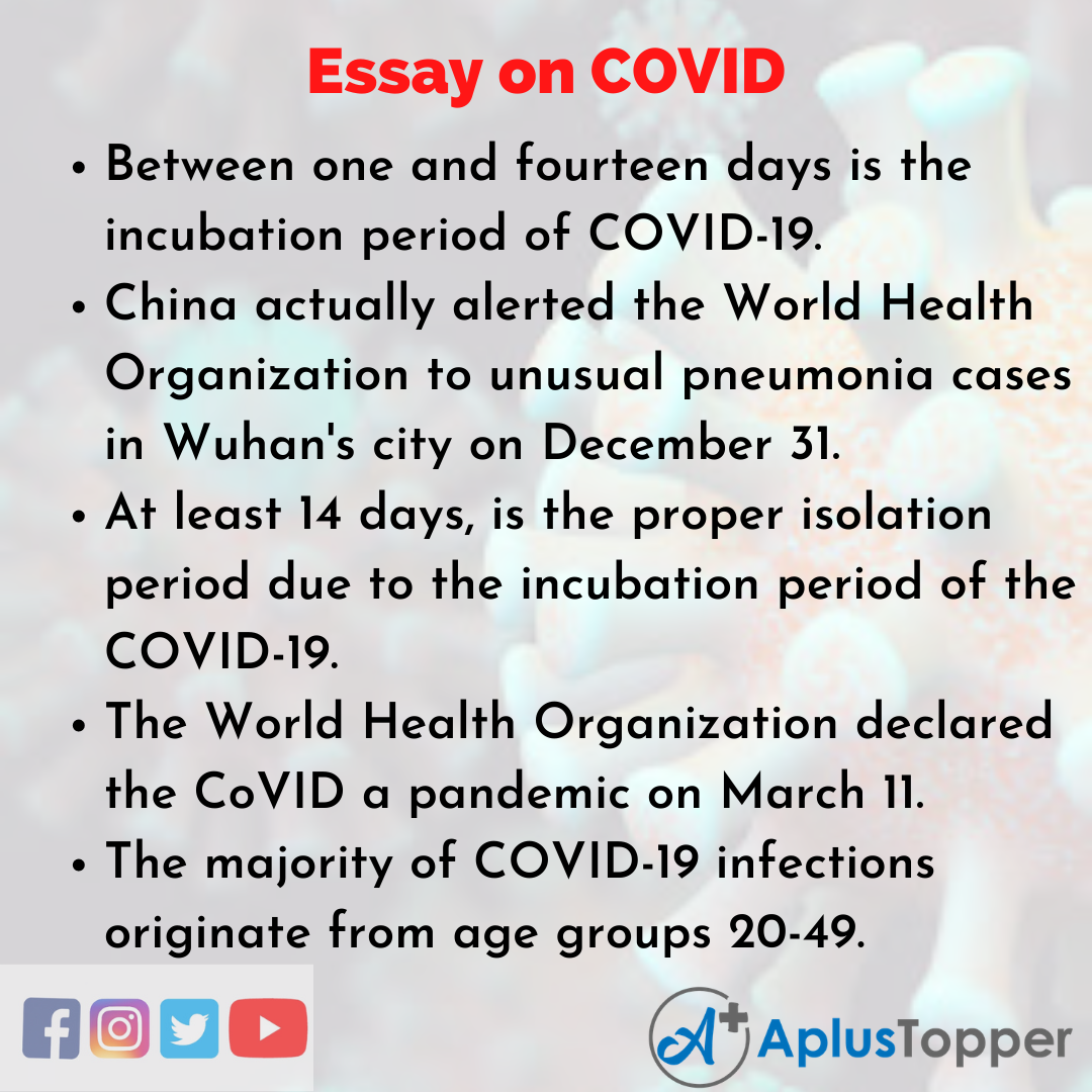 Essay about COVID