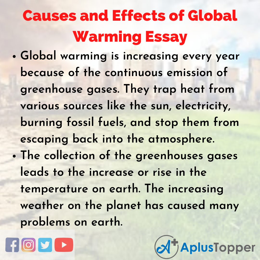 Essay about Causes and Effects of Global Warming