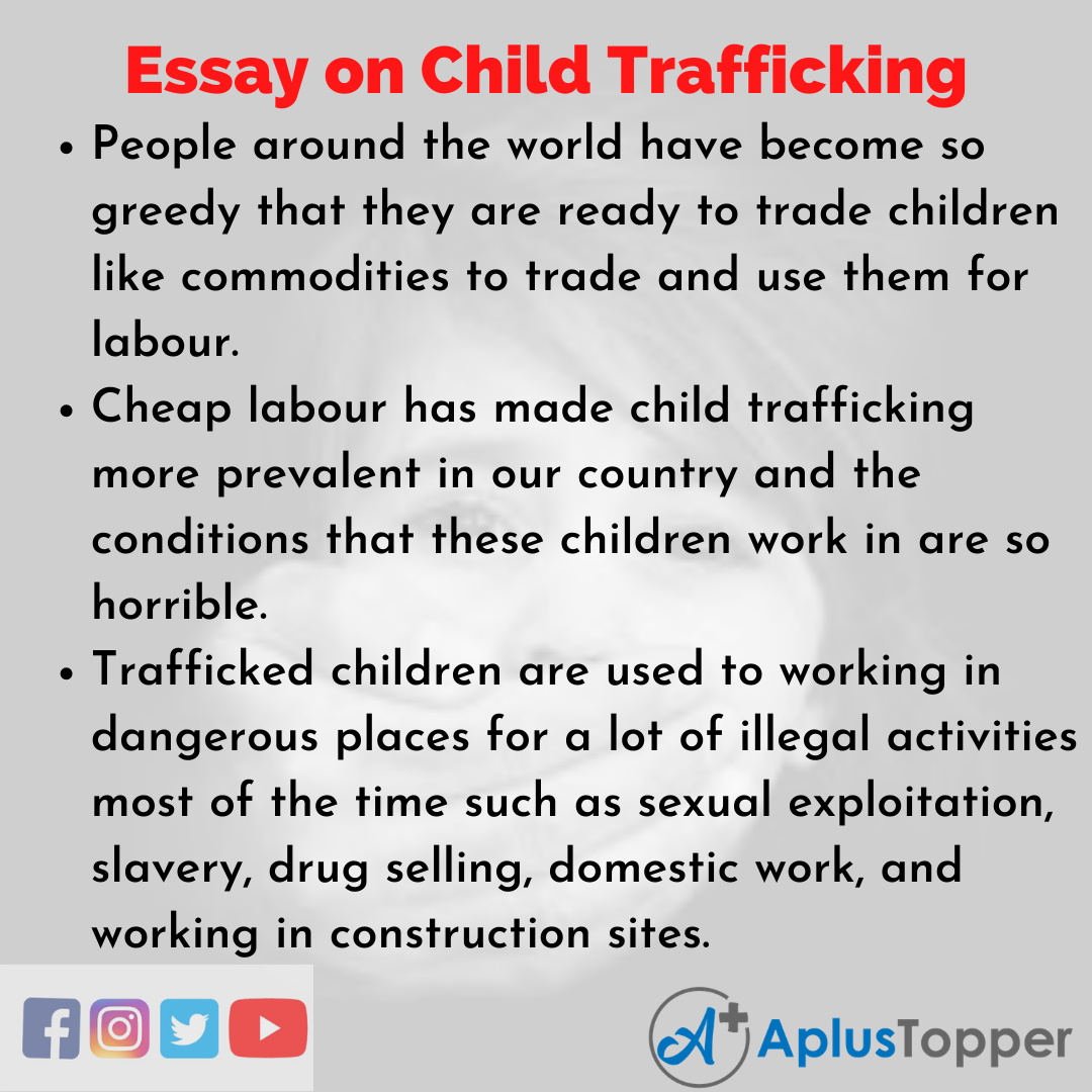 Essay about Child Trafficking