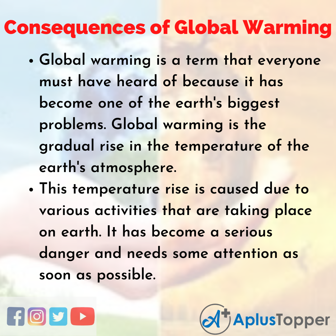 Essay about Consequences of Global Warming