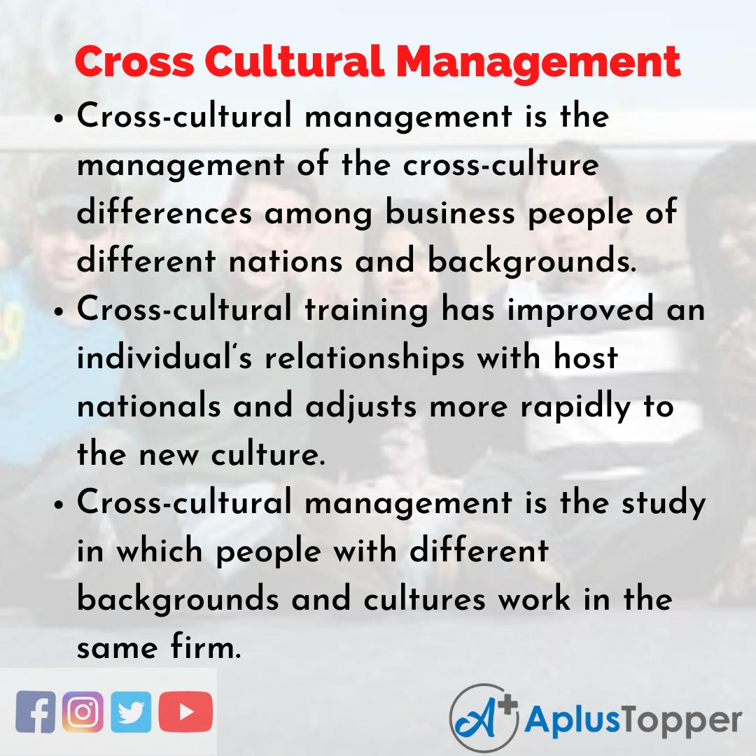 Essay about Cross-Cultural Management