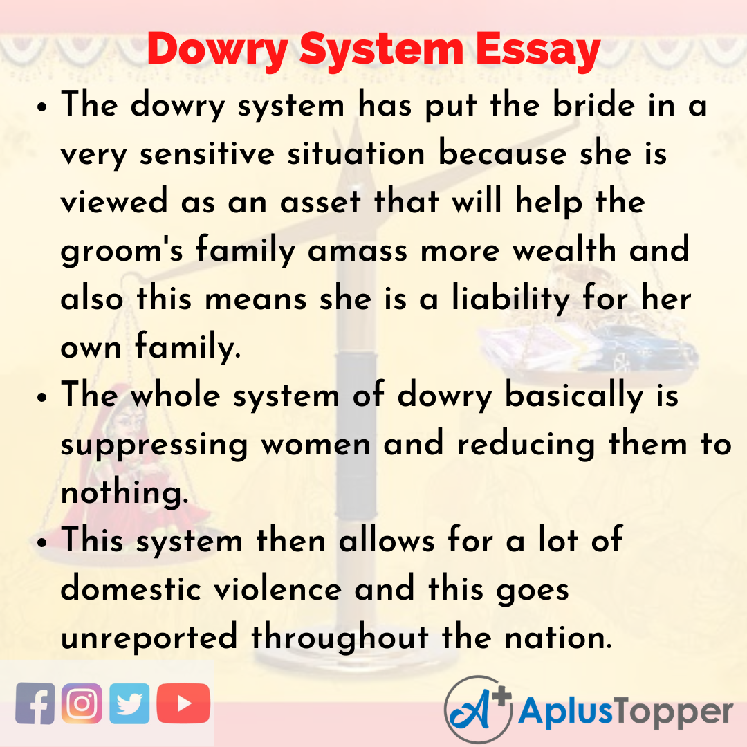 Essay about Dowry System