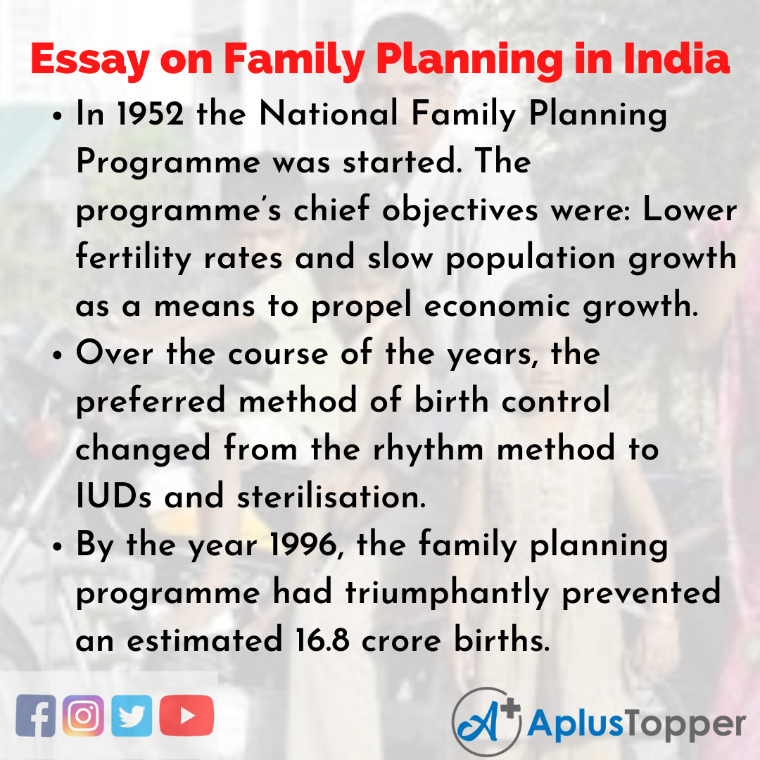 Essay about Family Planning in India