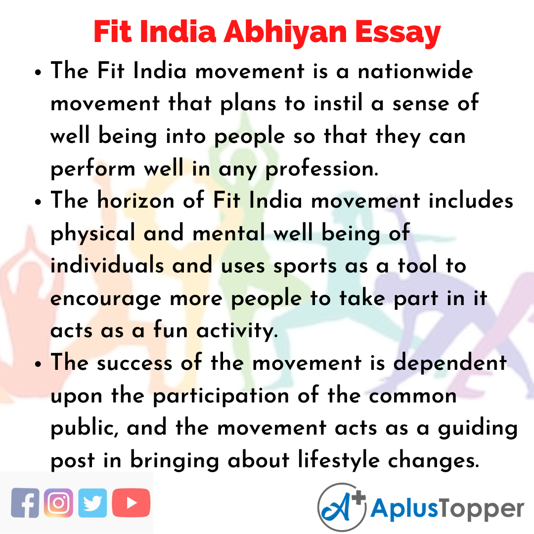 Essay about Fit India Abhiyan