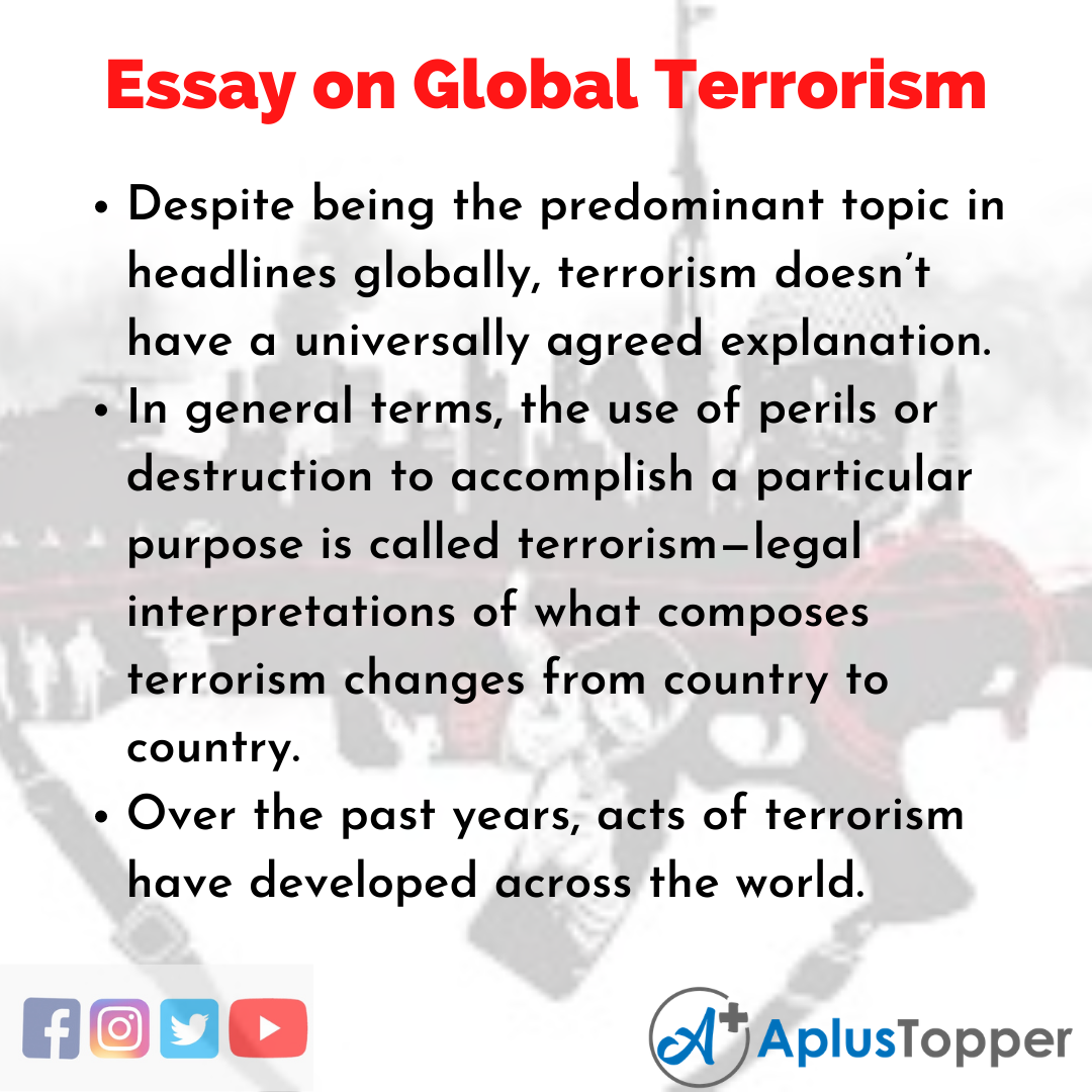 Essay about Global Terrorism