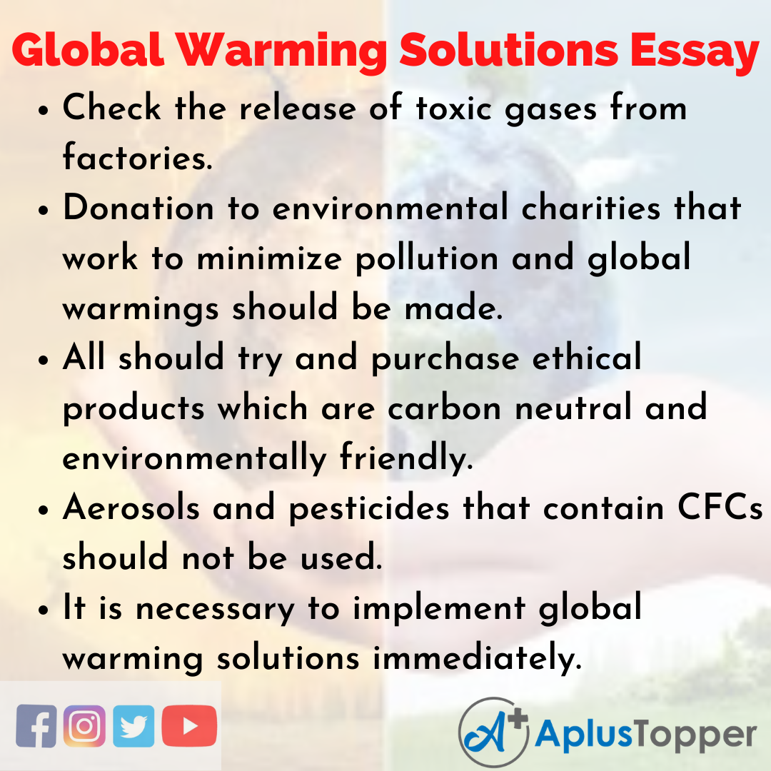 Essay about Global Warming Solutions