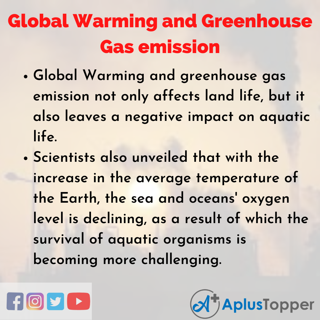 Essay about Global Warming and Greenhouse Gas emission