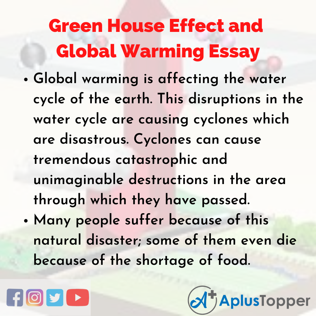 Essay about Green House Effect and Global Warming