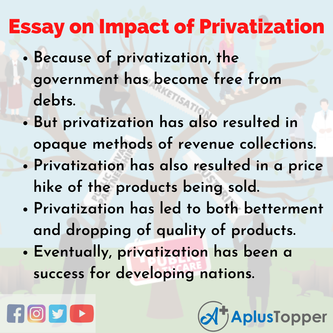 Essay about Impact of Privatization