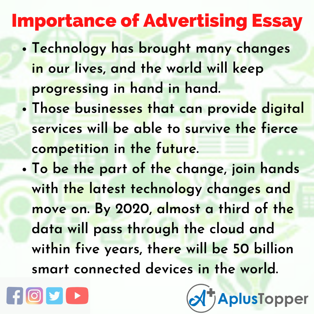 Essay about Importance of Advertising