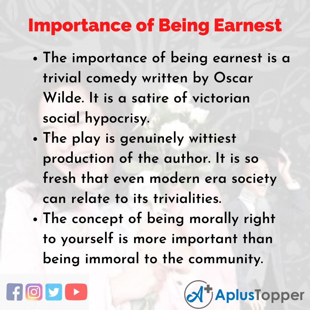 Essay about Importance of Being Earnest