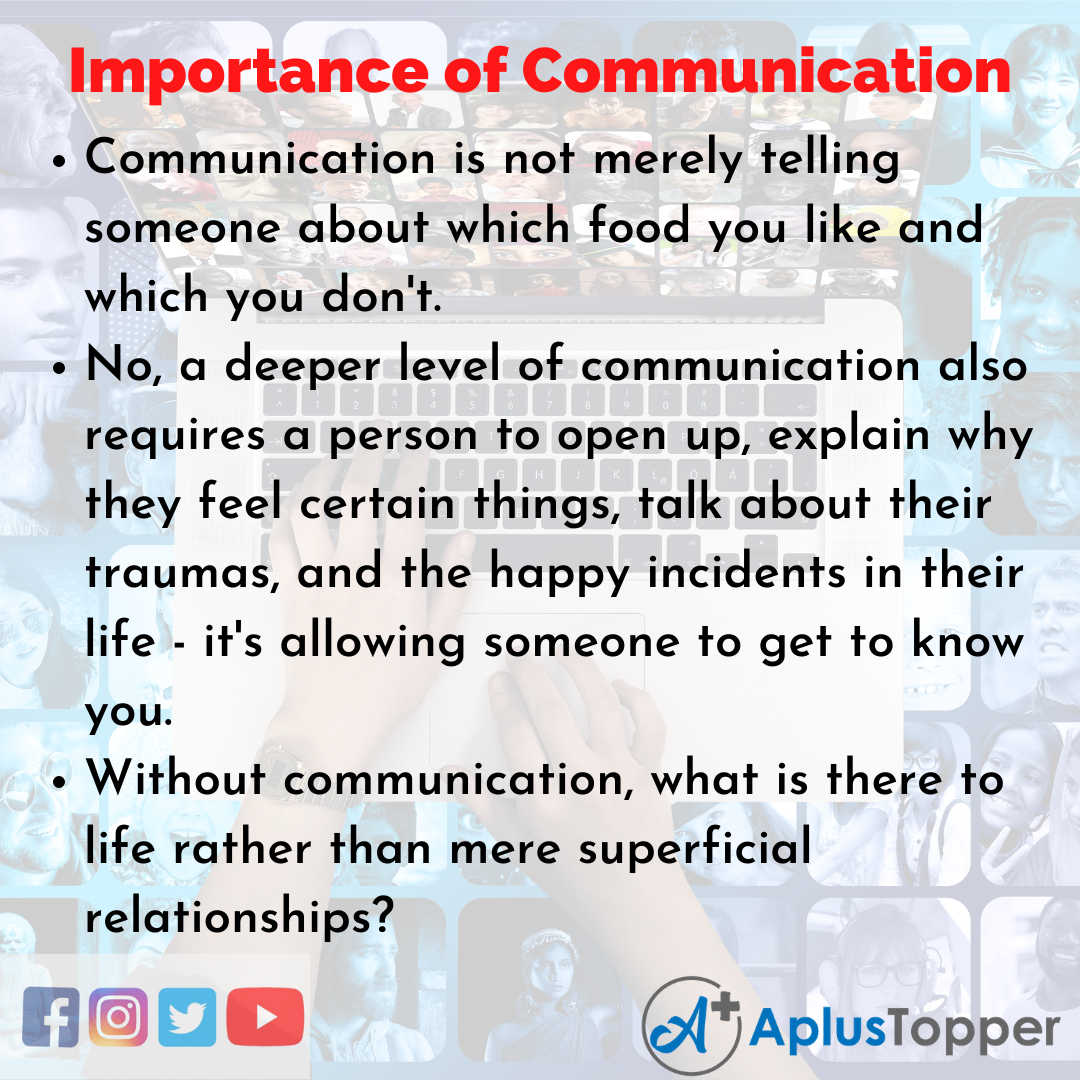 Essay about Importance of Communication