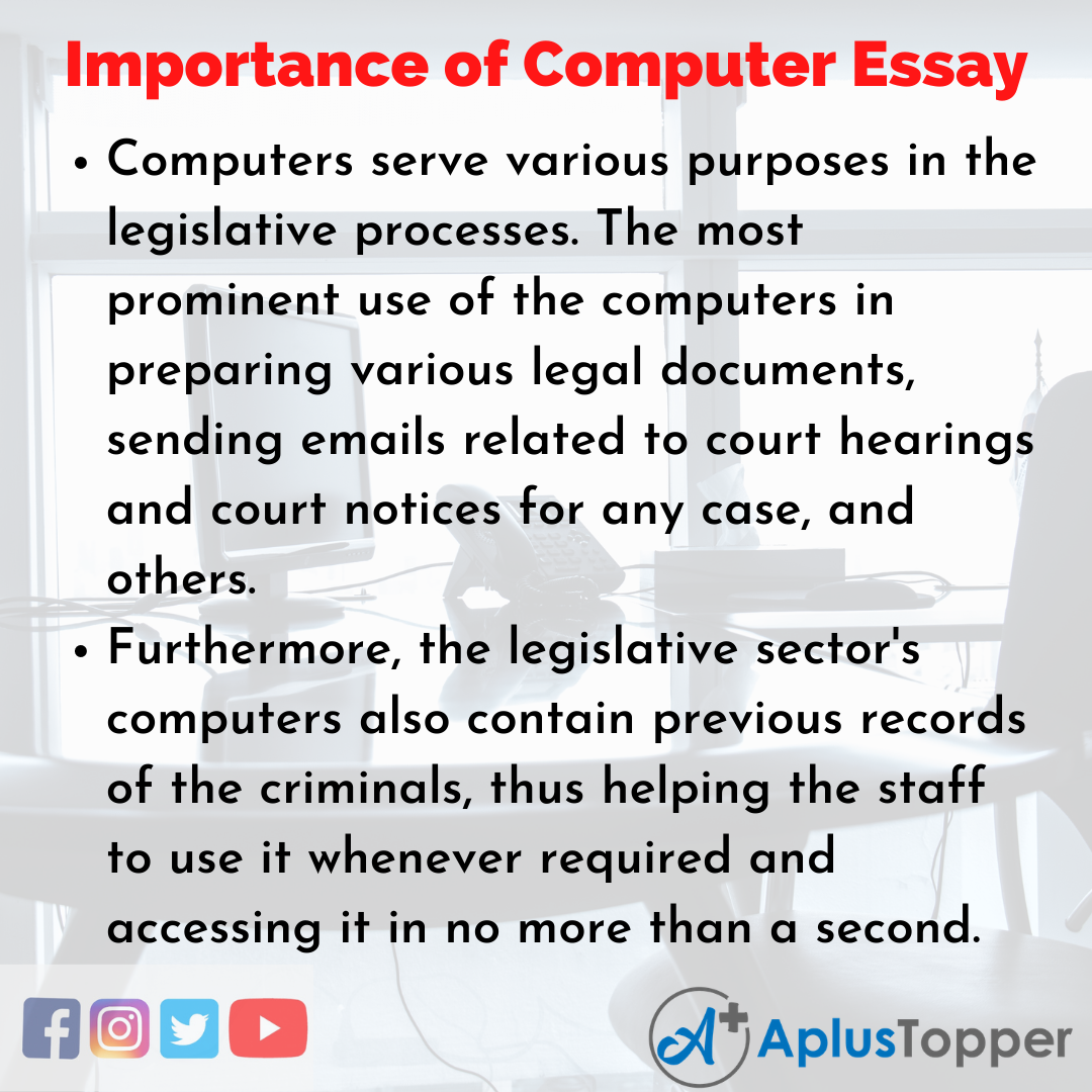 Essay about Importance of Computer