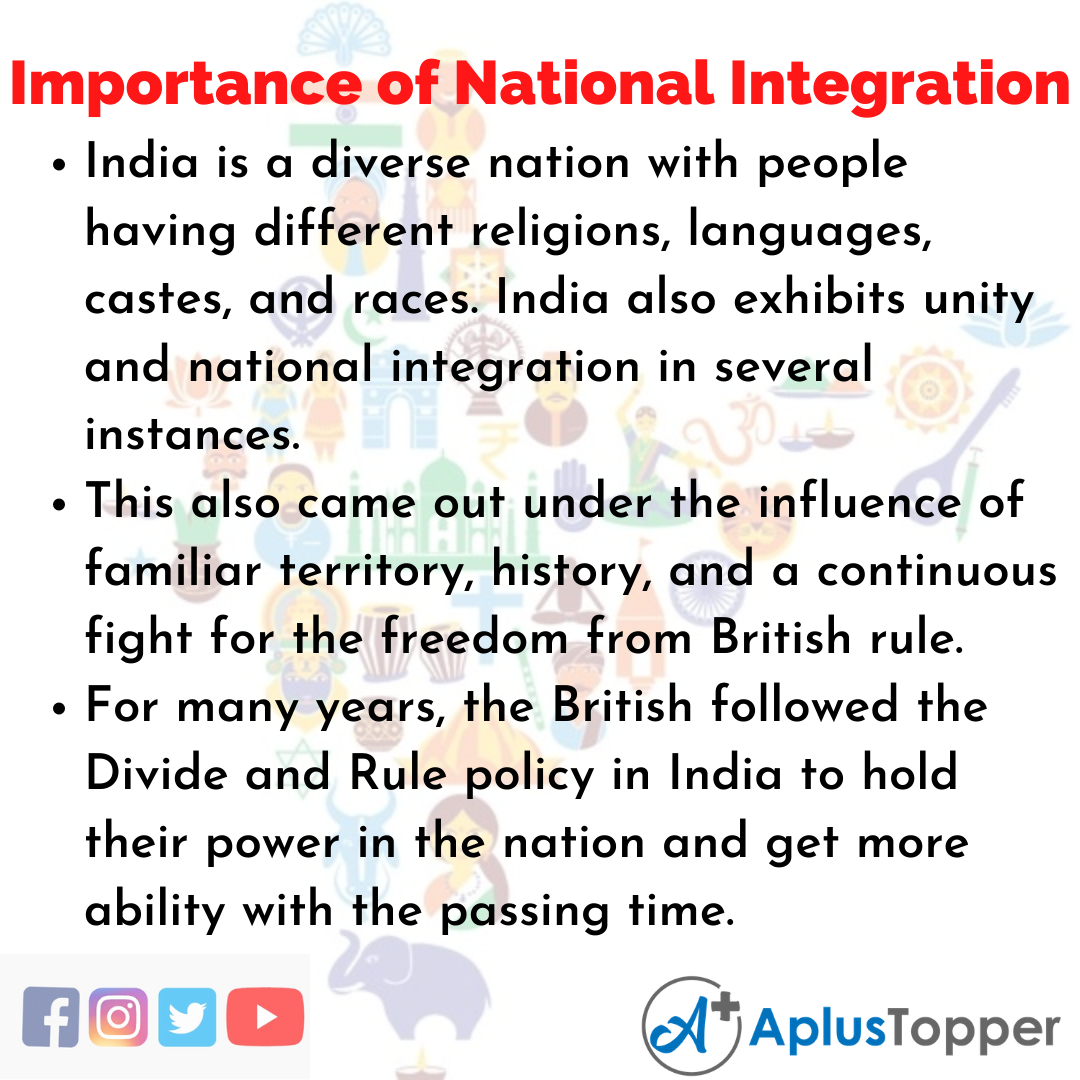 Essay about Importance of National Integration