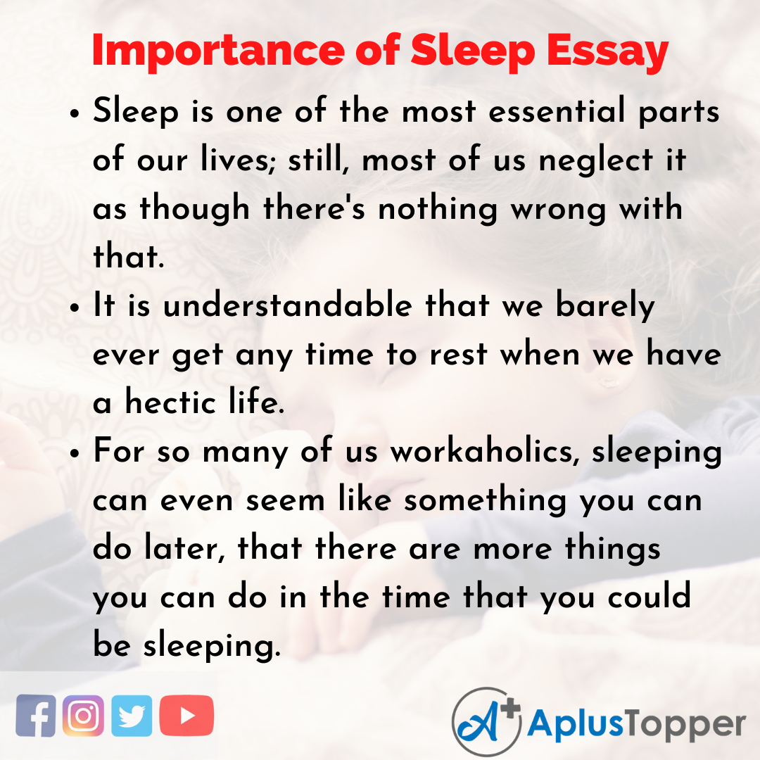 Essay about Importance of Sleep